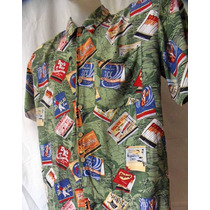 Linda Camisa Hawaii Estampa Retro Anos 50 - 60 G 111-344