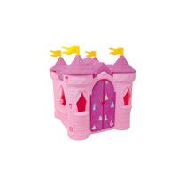 Brinquedo Playground Xalingo Castelo Rosa Disney Princesas
