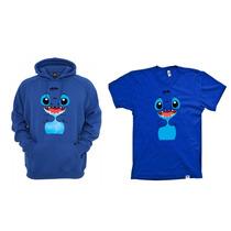 Combo Blusa Com Camiseta Lilo Stitch