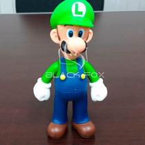 Luigi Modelo 1 Super Mario Bros - Boneco Articulado Lacrado