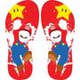 Chinelos Personalizados Super Mario Games E Séries Exclusivo