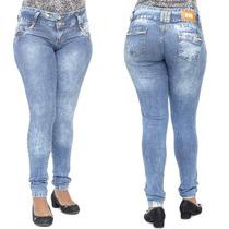 Calça Jeans Feminina Sawary Com Enchimento No Bumbum