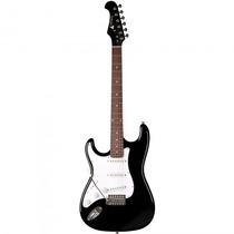 Guitarra Eagle Sts-001 Lh Bk Canhoto Stratocaster - Refinado