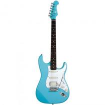 Guitarra Eagle Sts-002 Sbl Stratocaster Azul - Refinado