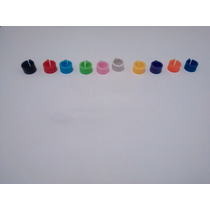 Anilhas 8mm Para Pombos Com Fecho Clik Coloridas 10 Pcs