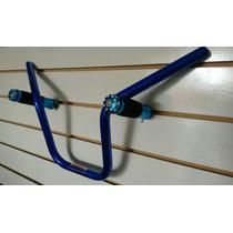 Guidão Alumínio Azul + Manopla Esportiva Moto Titan