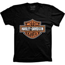 Camiseta Harley Davidson Motor Cycles Camisa De Moto Harley