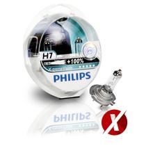 Kit Lâmpadas H1 + H7 Philips X-treme Vision 3350k 100% + Luz