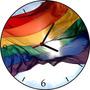 Relógio De Parede Em Vinil, Arco Iris, Gay, Lesbicas