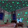 100 Estrelas Fluorescentes Neon Parede Quarto Brilha Escuro