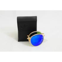 Óculos Ray Ban Rb3517 Round Metal Dobrável - Azul Escuro