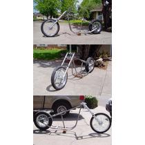 Projeto Chassi Moto Chopper Hardtail + Projeto Carretinha