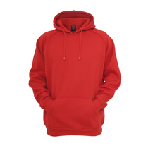 Blusa De Moletom Com Capuz Lisa Vermelha
