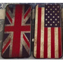 Capa Iphone 6 E 6 Plus Bandeira Retrô Reino Estados Unidos