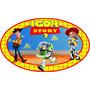 Placa Elipse Toy Story Personalizada Decoração Parede