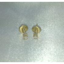 Brincos 2º Furo Cartier De Ouro Amarelo 18k 750 E Diamante!