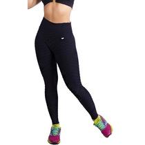 Kit De 3 Legging Fitness Em Tecido Bolha Ginástica Academia
