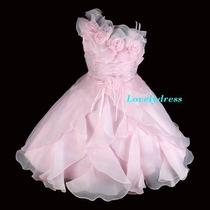 Vestido Infantil Festa Rosa Claro, Princesa, Dama. Lindo!