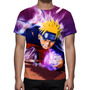 Camisa, Camiseta Anime Naruto Uzumaki 01 - Estampa Total