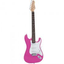 Guitarra Giannini G-100 Pk/wh Stratocaster Rosa - Refinado