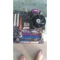 Placa Mae Drr2 Com Processador Lga 775 Coller Pci Express