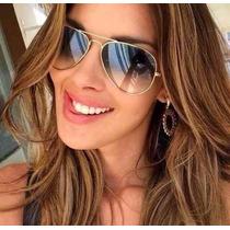 Oculos De Sol Ray Ban 3024 Lente Azul Original Várias Cores
