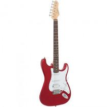 Guitarra Giannini G-101 Mr/wh Strato Vermelha - Refinado