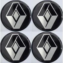 Emblema Renault Botom Calota Roda Resinado 48mm Ou 51mm