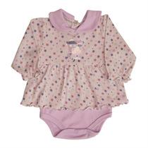 Body P/ Bebê Infantil Manga Longa Suedine Estrelas Zig Mund