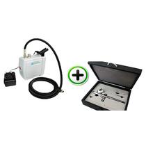 Kit Compressor Completo Com Aerógrafo E Acessórios