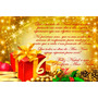 Cartão De Natal Personalizado - Kit Com 30 Unidades