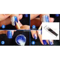 Kit C/ 7 Pincéis Pincel Macrilan Unhas Artísticas Nail Art