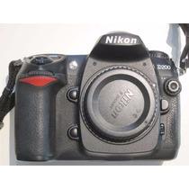 Corpo Maquina Fotográfica Profissional Nikon D200 Usada
