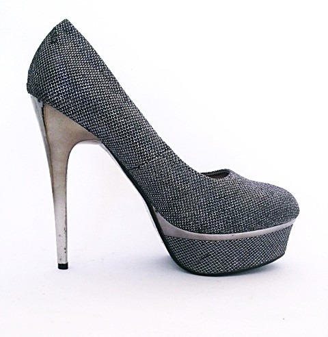 039077a6b Sapato Feminino De Mostuário Preto Salto Alto Importado Luxo