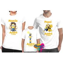 Camiseta - Camisa Personalizada Minion A4 / Kit 3peças