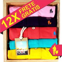 Kit 6 Camisetas Polo Xg E Xxg, Sheepfyeld Original 40 Cores