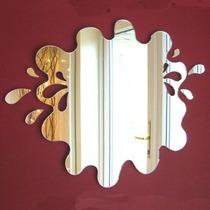 Espelho Decorativo Banheiro 45cm Acrílico Splash
