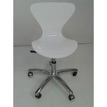 Cadeira Acrílica Jacobsen Base Office - Diversas Cores