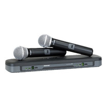 Microfone Duplo Sem Fio Shure Pg288/pg58
