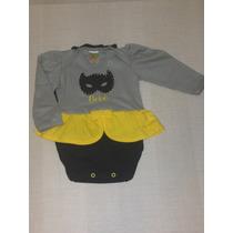 Body Infantil Mulher Gato Com Capa - Ref 1975