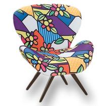 Cadeira Decorativa Romero Britto Para Quarto Casa Sala