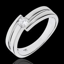 Anel Solitário Com Diamantes De 5 Pontos Em Ouro 18 Quilate