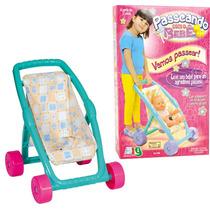 Carrinho De Boneca Passeando Com O Bebê Nig 560
