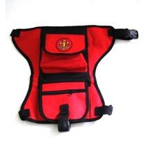 Bolsa De Perna/ Bornal/pochete Bombeiros Vermelha Mod. Novo