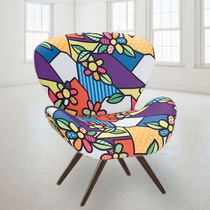 Cadeira Decorativa Design Sala Pes Palito Swan Colorida