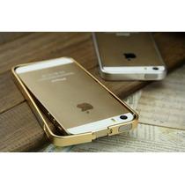 Capa Case Bumper Alumínio Iphone 5 5s + Película Vidro