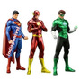 Superman Ou Flash Ou Lantena Verde Crazytoys Artfx 20cm