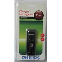 Carregador De Pilhas Philips Multilife Mini Original 220v