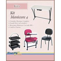 Kit Manicure 4 - Cir. Munique + Esmalteiro + Mesa + Cadeira