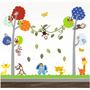 Adesivo Quarto Infantil Papel Parede Coruja Bebe Zoo 2,40m